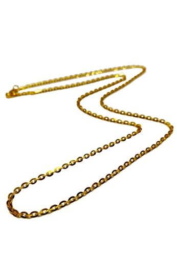LITZ gold LITZ 916 (22K) Gold Necklace POLO 项链 N0004-45cm-2.55g+/- B07DEACB376BF8GS_1