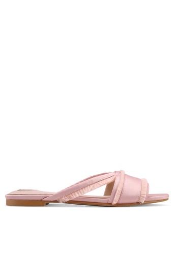 Velvet pink Fringed Sandals F2D4ESH1406AA4GS_1