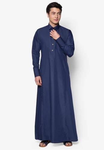 Amar Amran blue Jubah A Daler Yusuf Edition Slim Fit (Navy Blue) 1D6B3AAA359B7FGS_1