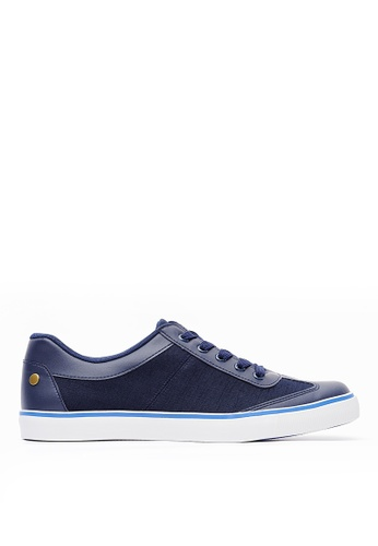Life8 blue Canvas Casual Lace-Up Sneakers-09737-Blue LI283SH0GQ0NSG_1