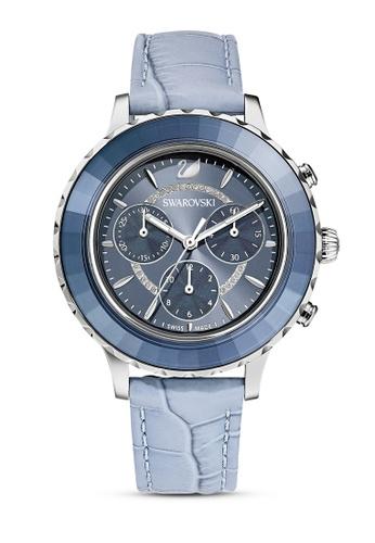 Swarovski blue Octea Lux Chrono Watch C578BAC0FCC2C5GS_1