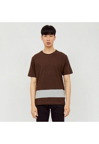 M231 M231 T-Shirt Combination Pendek Coklat 2161A 3F623AA570CC79GS_1