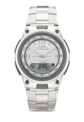 AW-82D-7AVDF 運動風指針數碼手錶, 錶類, 飾品尖沙咀 esprit outlet配件