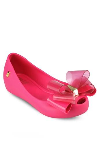 Ultragirlesprit 台中 童裝立體蝴蝶結平底鞋, 鞋