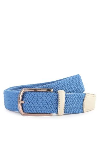 LOMBARDI GIOVANNI blue Elastic Belt 22333AC5B5A847GS_1