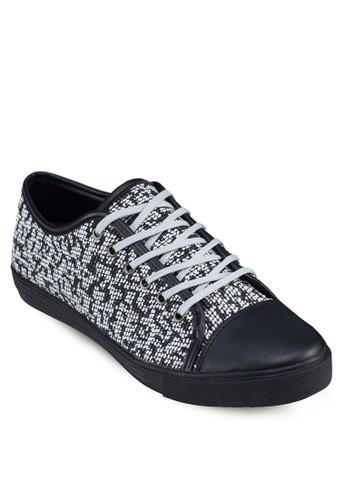 印花繫帶運動鞋, 鞋, 休閒zalora 手錶鞋