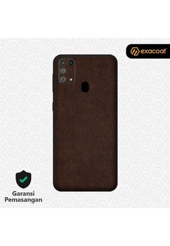 Exacoat Galaxy M31 3M Skins Leather Series - Leather Brown A75E1ES3282429GS_1