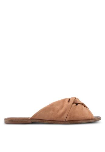 ALDO brown Sessame Flat Sandals BA7AASH0708D6BGS_1