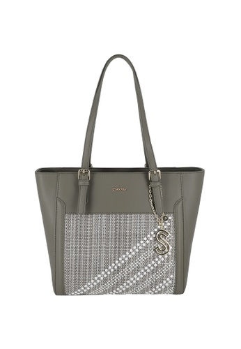 SEMBONIA grey Large Tote Bag BCE82AC9A2F8EEGS_1