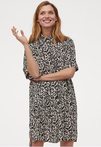 H&M multi and beige Shirt Dress 45745AA25A0576GS_1