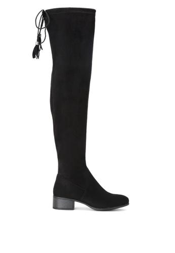 London Rag black Britney Black Over The Knee Boots SH1685 753CESHABE37CBGS_1