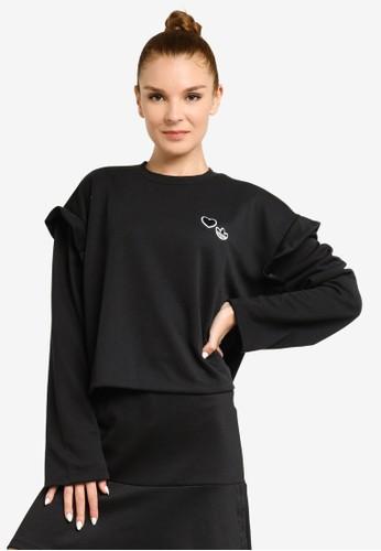 ADIDAS black crewneck sweatshirt 60F9FAAEA7E4F9GS_1