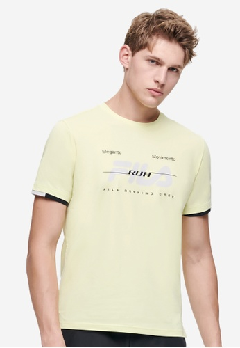 FILA yellow Athletics Collection FILA RUN Logo T-shirts 79865AAAEC32EAGS_1