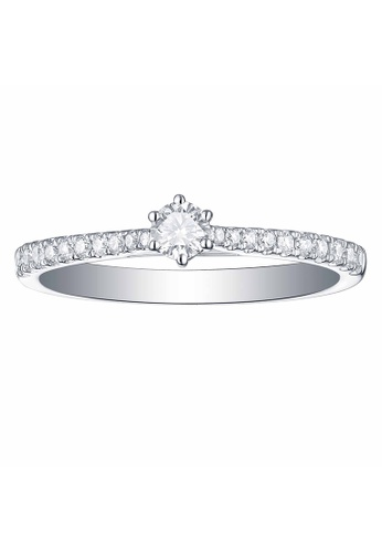 Smiling Rocks white 10K White Gold 0.32ct Lab Grown Diamond Essentials Ring EF9E1ACD0A56D1GS_1