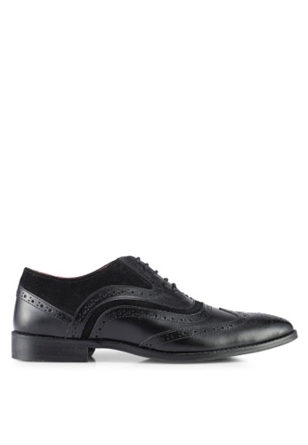 ACUTO black Leather Dress Shoes AC283SH0SL5IMY_1