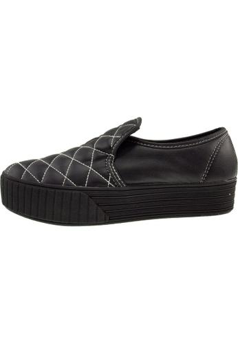 Maxstar 黑色 新款韩国鞋C30-Stitch-TC時尚皮革布混合女黑色 US Women Size MA345SH95HEYTW_1