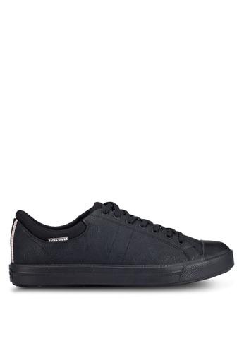 Jack & Jones black Mervin PU Sneakers JA987SH0RGKDMY_1
