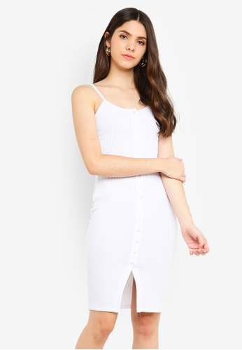 Supre white Button Rib Cami Mini Dress 7FC92AA126524EGS_1