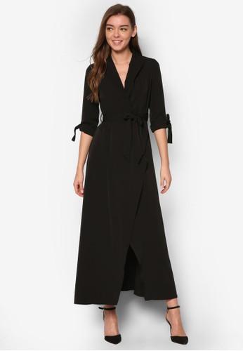 esprit台灣網頁裹飾七分袖長洋裝, 服飾, 洋裝