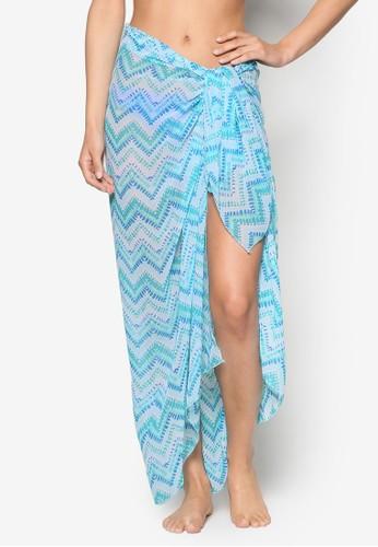 Bahamas 印花沙esprit旗艦店灘巾, 服飾, 泳裝& 海灘裝