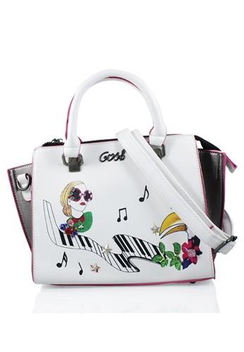 GOSH white Amaryllis-262 Pittura Hand Bag D063AACB78FEF7GS 1 e27f855792
