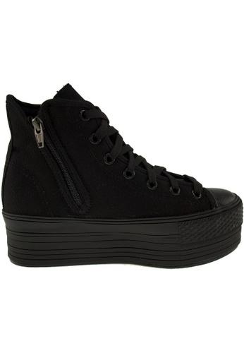 Maxstar black Maxstar Women's C50 7 Holes Zipper Platform Canvas High Top  Sneakers US Women Size MA164SH65PVQSG_1