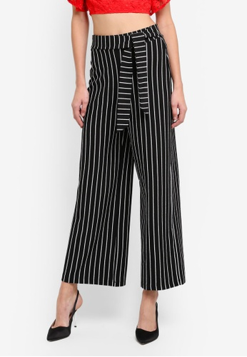 Miss Selfridge multi Petite Striped Paper Bag Trousers MI665AA0STCVMY_1