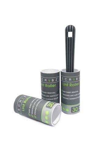 Scrubz grey Heavy Duty Cleaning Essentials Easy Grip Premium Lint Roller Set of 3 DBC02HLCDE9DE3GS_1
