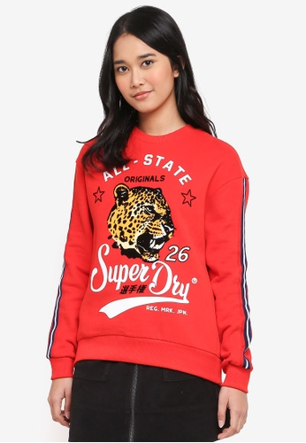 Superdry red Heritage Leopard Crew 51AC8AA45F694DGS_1