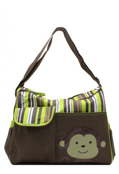 Monkey Maternity Fashion Baby Diaper Organizer and Baby Changer Diaper Messenger Bag