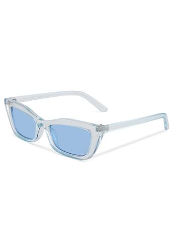 Quattrocento Eyewear Quattrocento Eyewear Italian Sunglasses with Blue Lenses Model Conte 5FDA4GLD3A1894GS_1