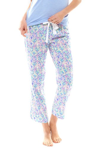 藝術印花九分休閒褲,zalora 心得 服飾, 睡褲