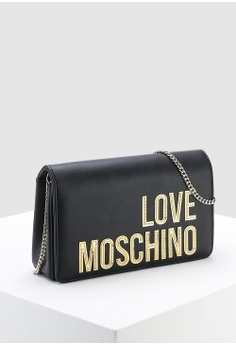 d147bba2f 21% OFF Love Moschino Matte Gold Logo Sling Bag RM 629.00 NOW RM 499.00  Sizes One Size