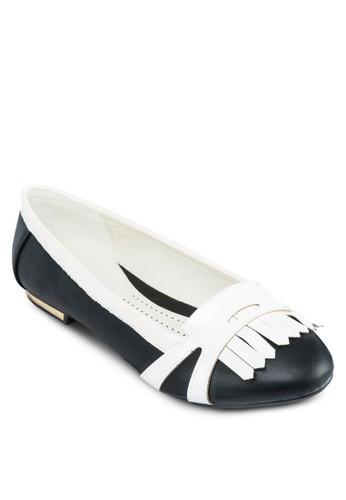 撞色流蘇平底鞋, 女鞋, zalora 評價芭蕾平底鞋