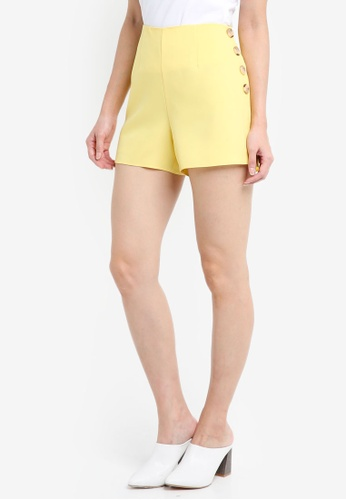 Miss Selfridge yellow Petite Yellow Tailored Shorts 7C3FEAA5B13792GS_1