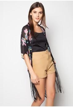 Fringe Tassel Kimono Top