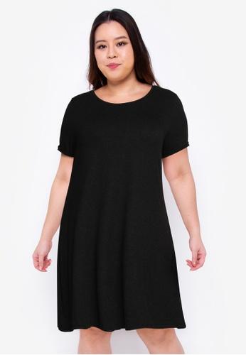 Only CARMAKOMA black Plus Size Carma Knee Dress F0FB7AA5C23850GS_1