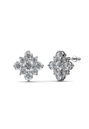 Her Jewellery Flourish Earring -  Made with premium grade crystals from Austria HE210AC0FSQWSG_1