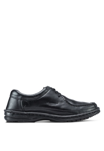 Obermain black Granger Lace Up Loafers OB115SH42SXXMY_1