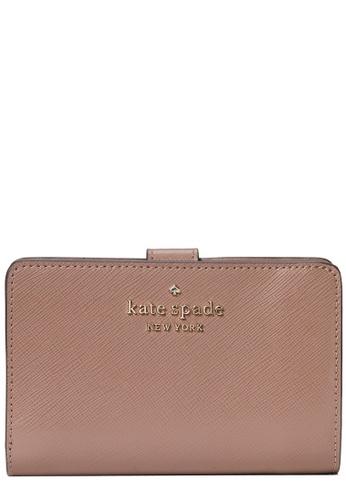 Kate Spade brown Kate Spade Staci Medium Compact Bifold Wallet in Dusk Cityscape 4B34DAC4E9F0D5GS_1