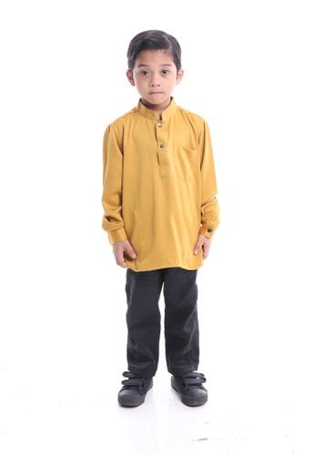 Denai Boutique yellow Kurta Ahmad D78D6KACE9CE9DGS_1