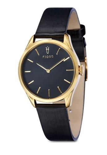 VENDELA 雙指針皮革zalora時尚購物網的koumi koumi錶, 錶類, 皮革錶帶