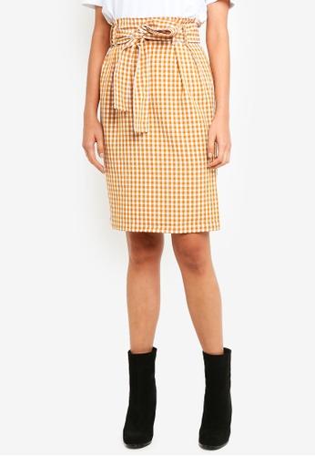 Pieces yellow Eva High Waisted Skirt 0C1E0AAB868EF0GS_1