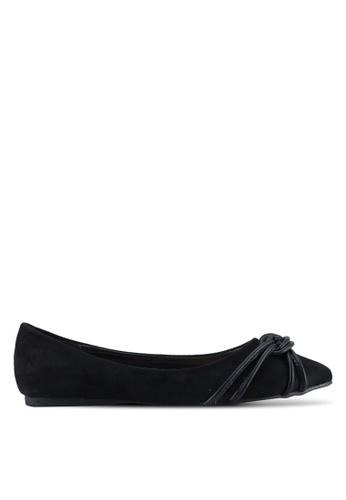 Something Borrowed black Knot detail Ballerina Flats A9608SH2931BE9GS_1