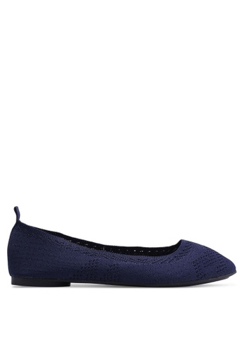 Nose 藍色 Perforated Flat Ballerinas 0F5EBSH14A8430GS_1