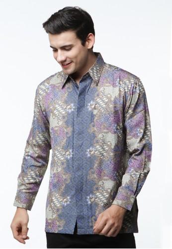 Waskito Kemeja Batik Semi Sutera - KB 17684 - Blue
