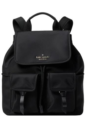 Kate Spade black Kate Spade Carley Flap Backpack in Black FFF54AC29FF160GS_1