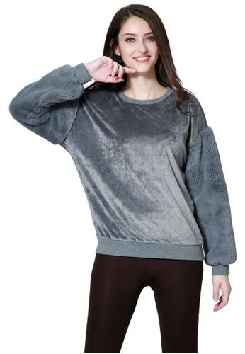 London Rag grey Soft Comfortable Grey Sweatshirt F8610AA180E1ECGS_1