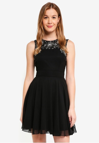 Lace & Beads black Asha Skater Dress 24951AA0FDE097GS_1