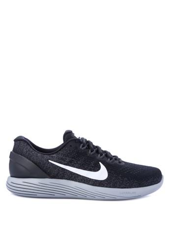 Nike black and multi Men's Nike LunarGlide 9 Running Shoes NI126SH0WCLDID_1